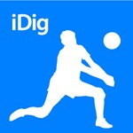 Volleyball iDig Silhouette