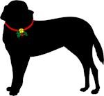 Christmas or Holiday Saint Bernard Jingle Bell Sil