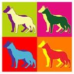 German Shepherd Silhouette Pop Art