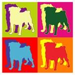 Pug Silhouette Pop Art