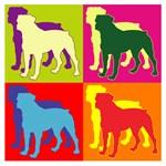 Rottweiler Silhouette Pop Art