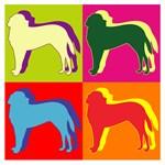 Saint Bernard Silhouette Pop Art