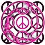 Crazy Pink Peace Sign