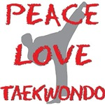 Peace Love Taekwondo Shirts