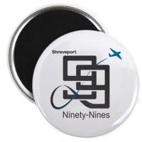 Shreveport 99s Buttons and Stickers