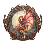 Autumn Red Gothic Fairy Art