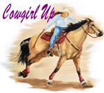 Cowgirl Up, Buchskin Barrel Racer