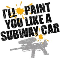 Paintball Subway Car